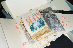 Cake at the launch of Zoë Street Howe's Slits biography
